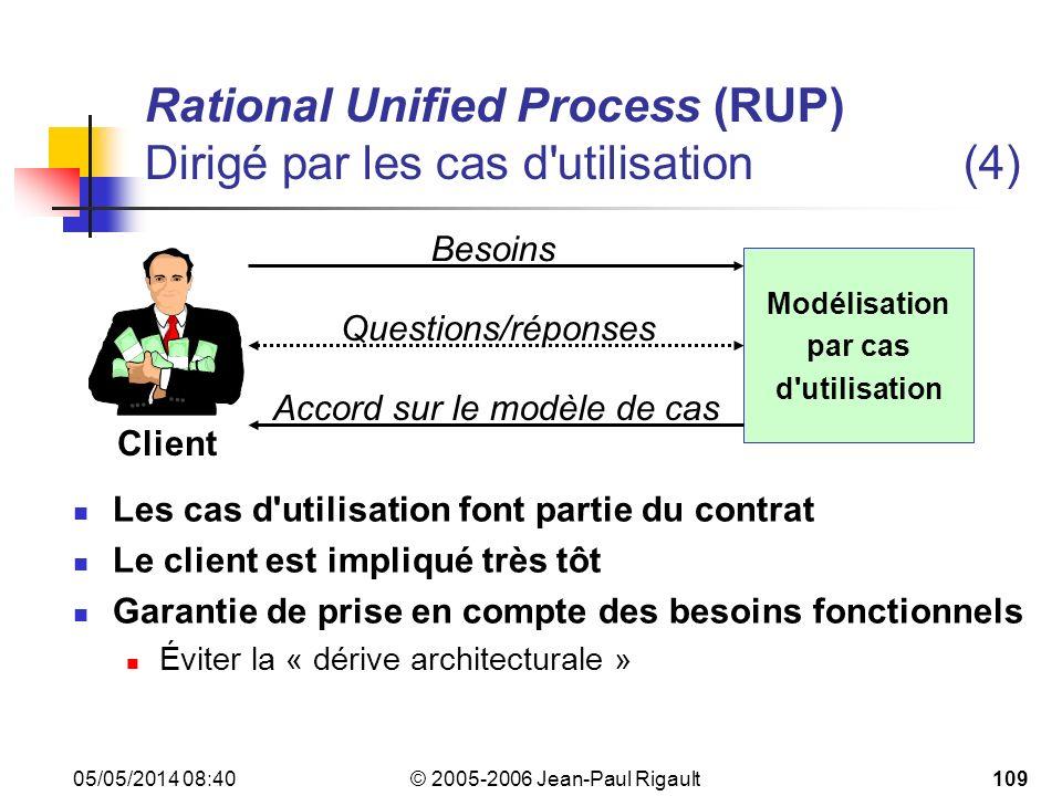 Rational Unified Process (RUP) Dirigé par les cas d utilisation (4)