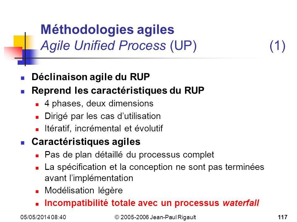 Méthodologies agiles Agile Unified Process (UP) (1)