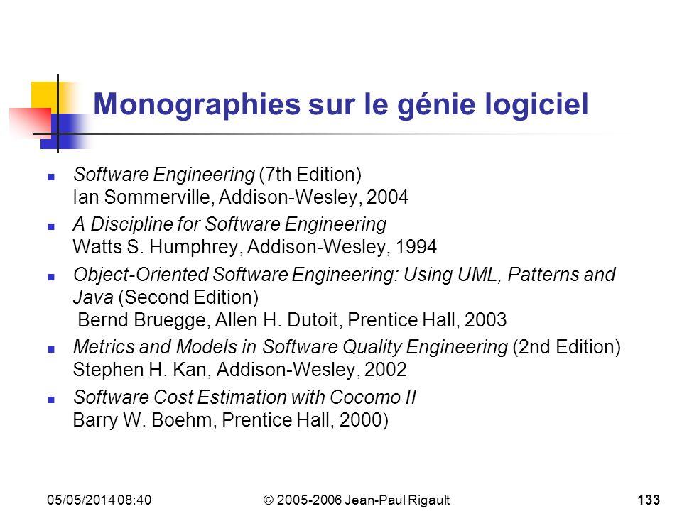 Monographies sur le génie logiciel