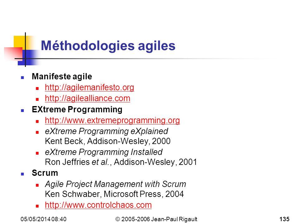 Méthodologies agiles Manifeste agile http://agilemanifesto.org