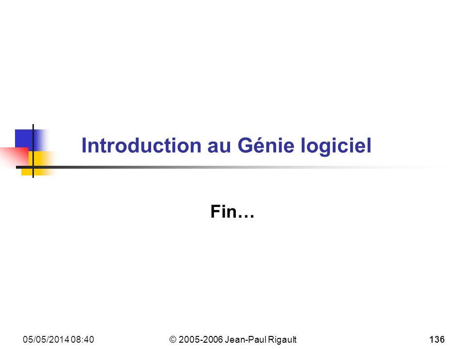 Introduction au Génie logiciel