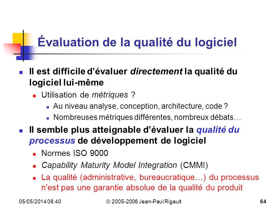 Évaluation de la qualité du logiciel