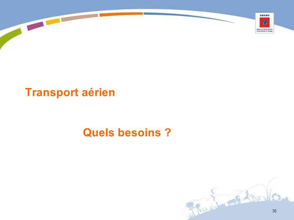 Transport aérien Quels besoins