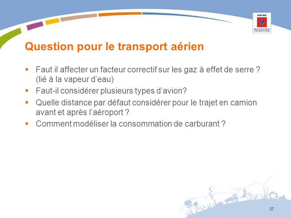 Question pour le transport aérien