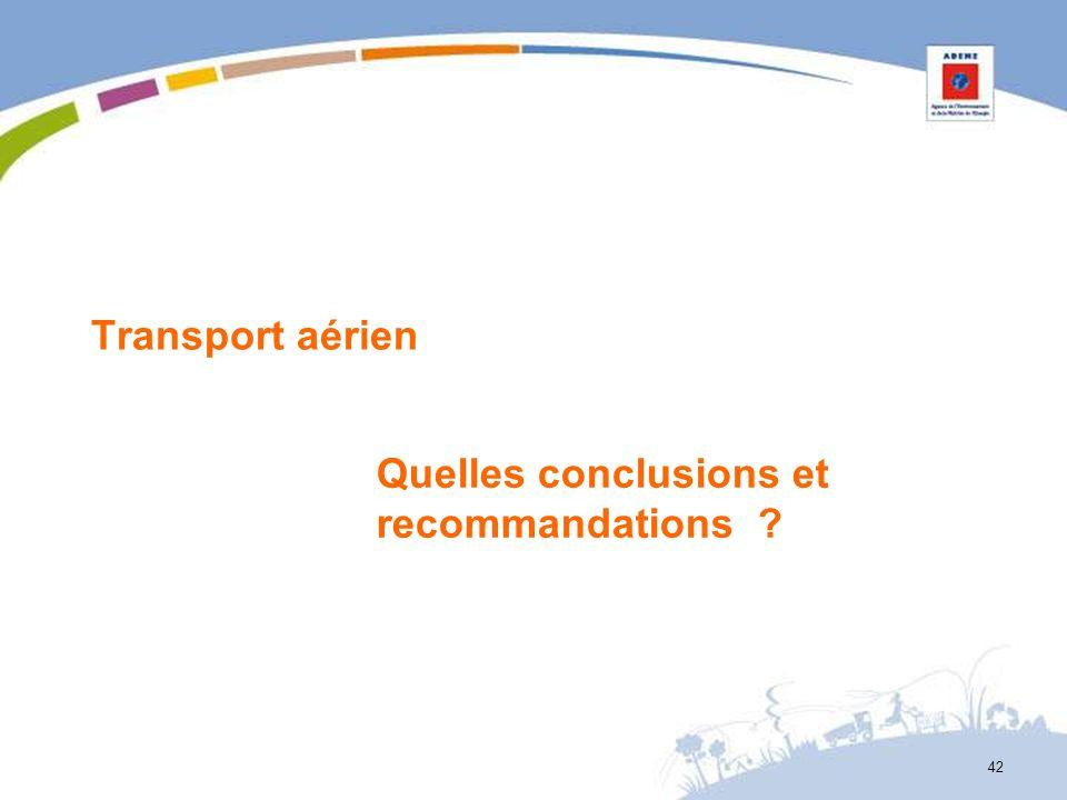 Transport aérien Quelles conclusions et recommandations