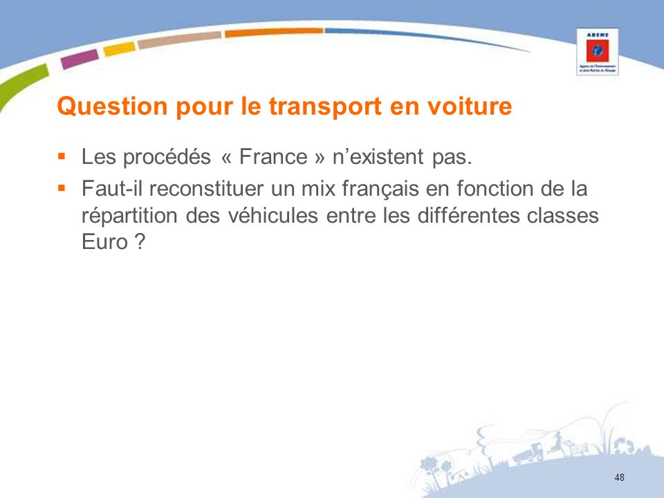 Question pour le transport en voiture