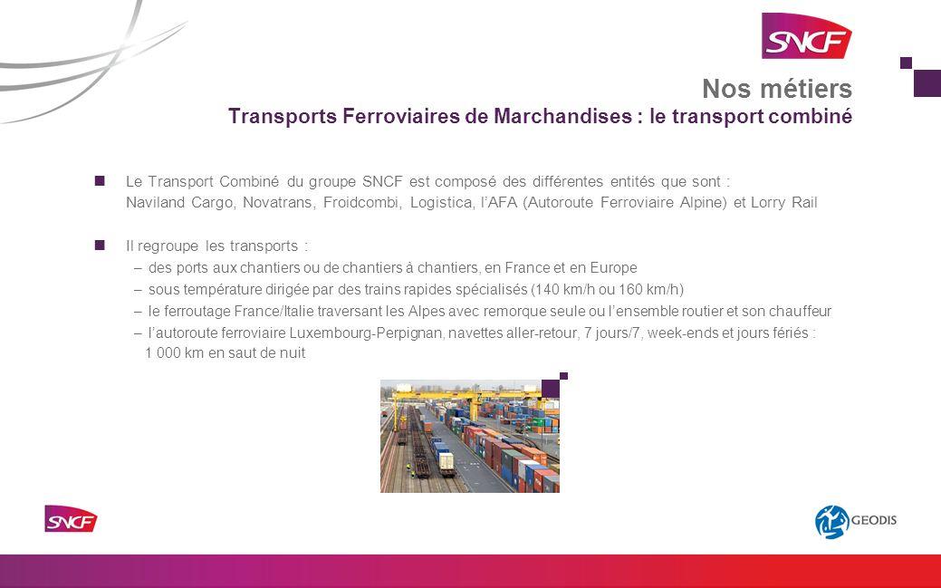 Transports Ferroviaires de Marchandises : le transport combiné
