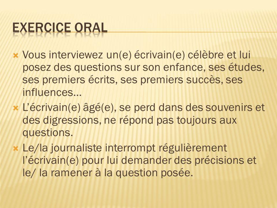 Exercice oral