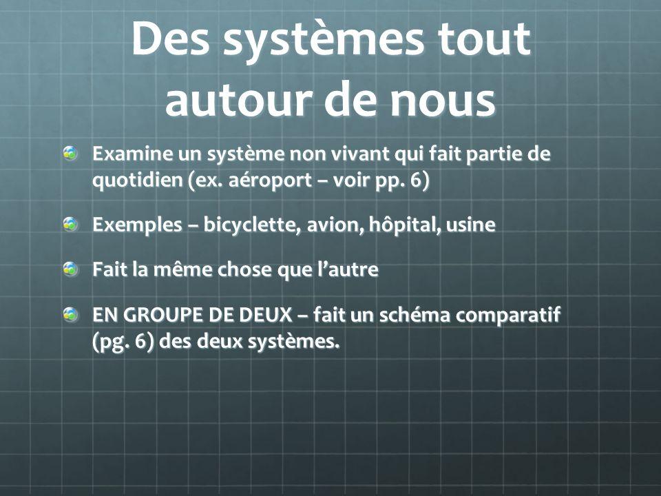 Des systèmes tout autour de nous