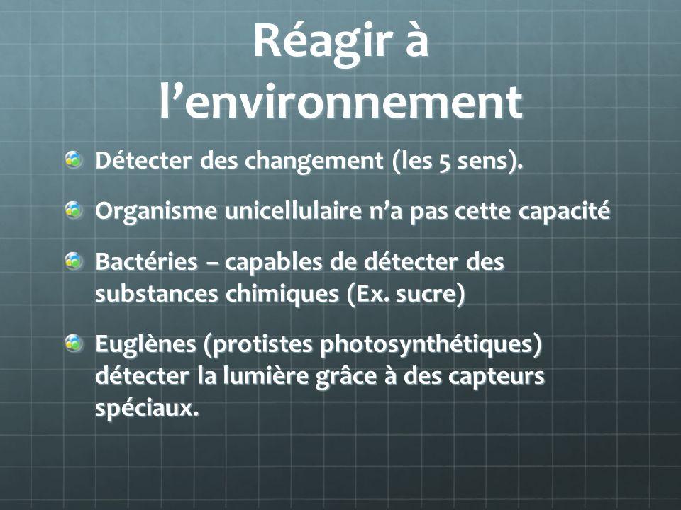 Réagir à l'environnement