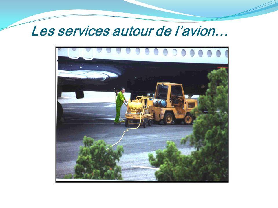 Les services autour de l'avion…