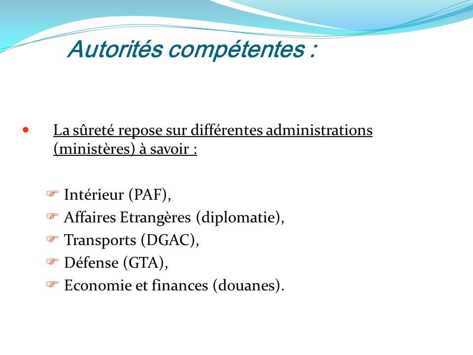 Autorités compétentes :