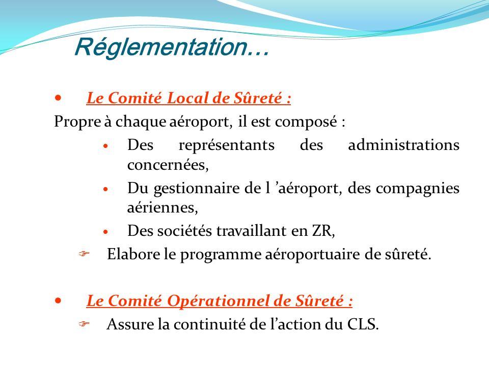 Réglementation… Le Comité Local de Sûreté :