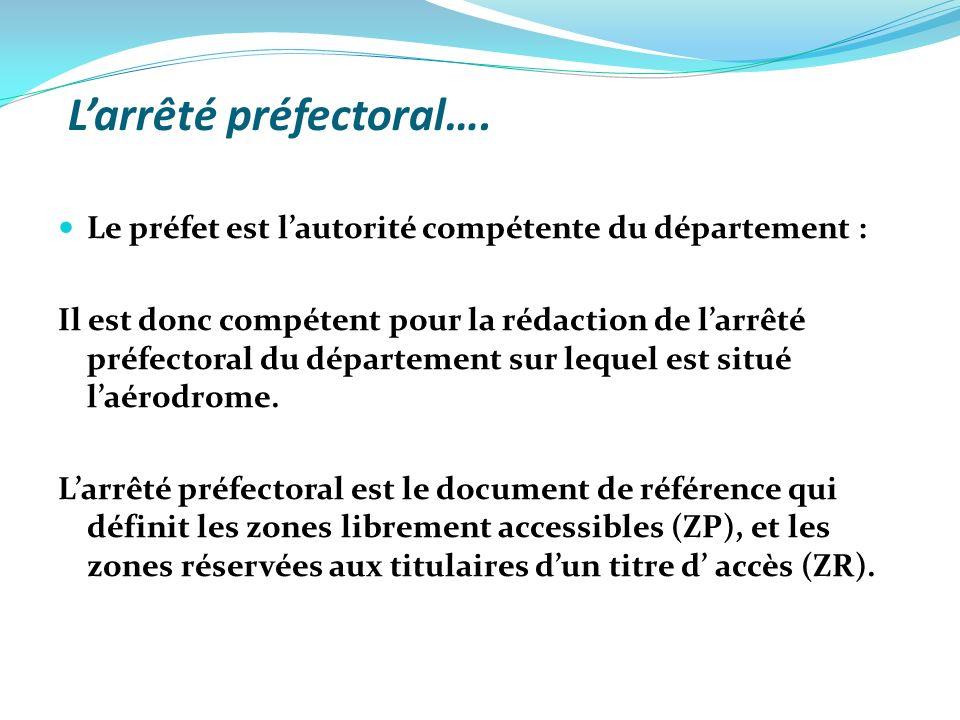 L'arrêté préfectoral….