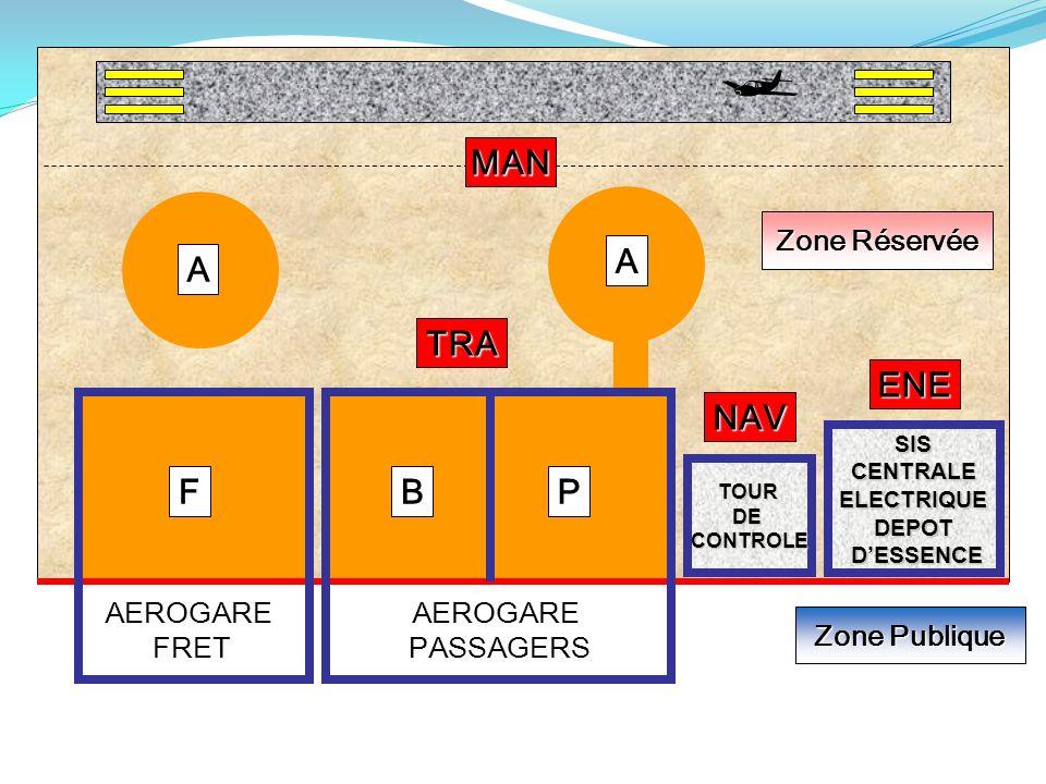  MAN A A TRA ENE NAV F B P Zone Réservée AEROGARE FRET AEROGARE