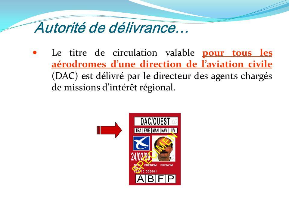 Autorité de délivrance…