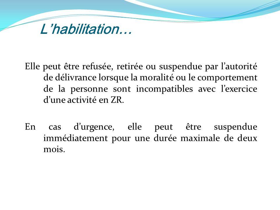 L'habilitation…