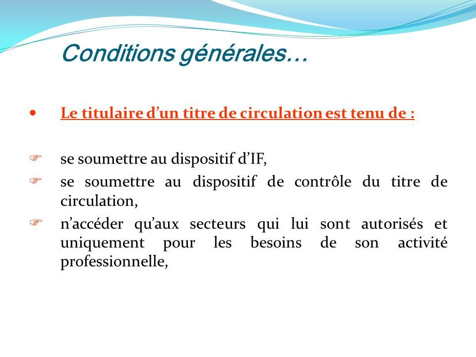 Conditions générales…