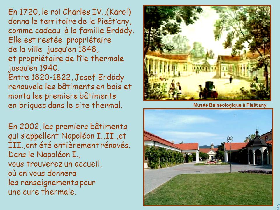 En 1720, le roi Charles IV.,(Karol)