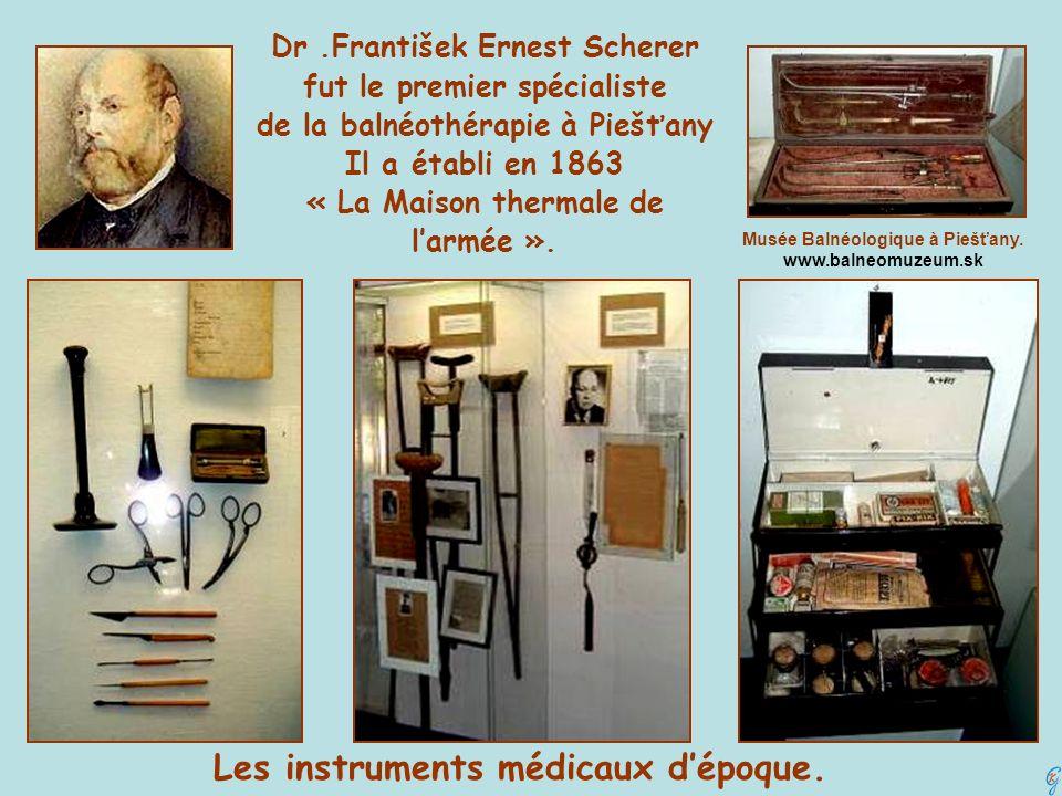Les instruments médicaux d'époque.