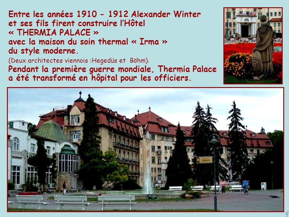 Entre les années 1910 - 1912 Alexander Winter