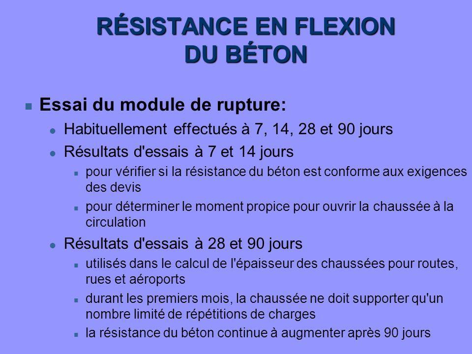 RÉSISTANCE EN FLEXION DU BÉTON