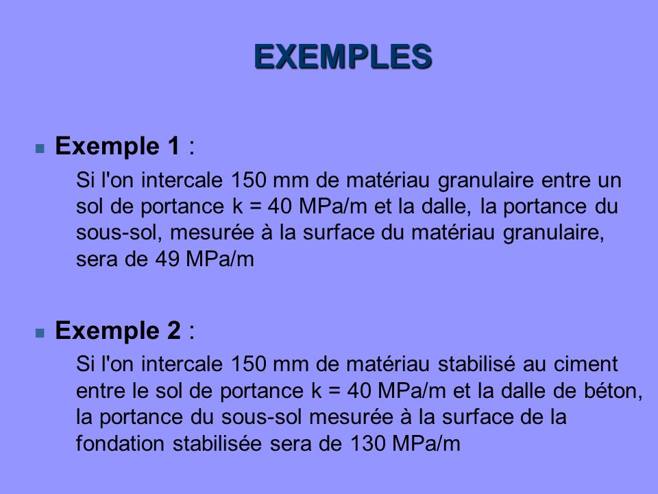 EXEMPLES Exemple 1 : Exemple 2 :