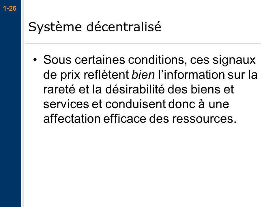 Système décentralisé