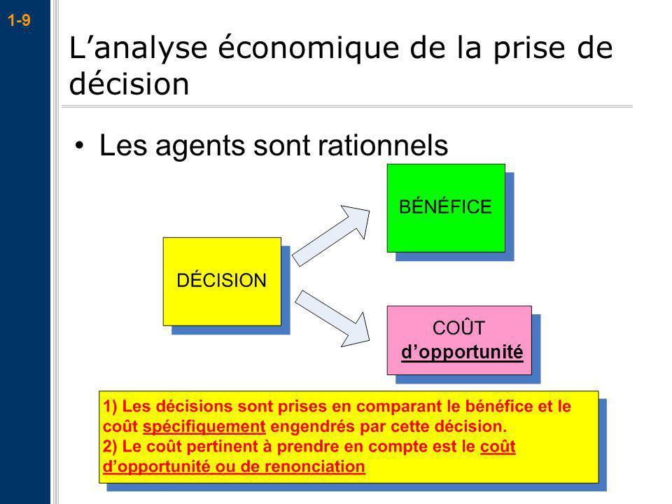 L'analyse économique de la prise de décision