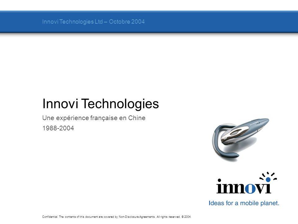 Innovi Technologies Une expérience française en Chine 1988-2004
