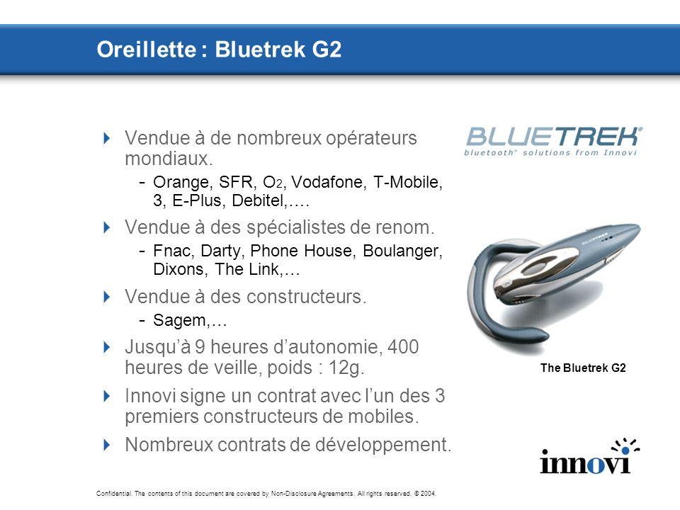 Oreillette : Bluetrek G2