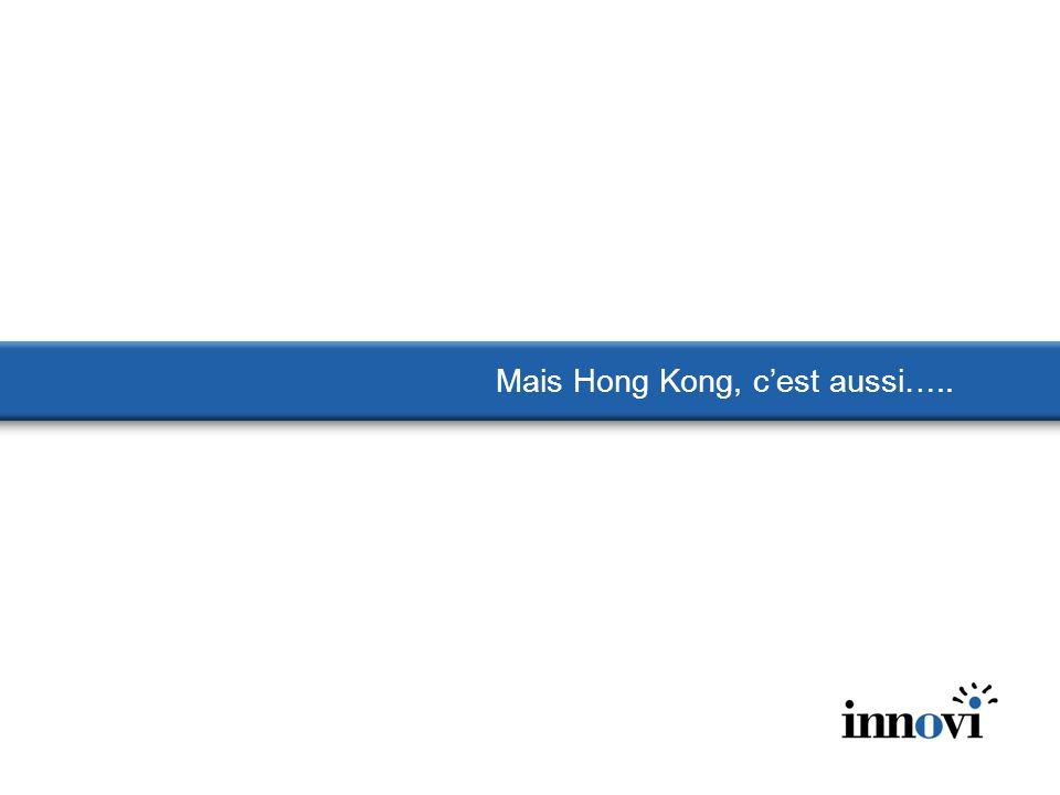 Mais Hong Kong, c'est aussi…..