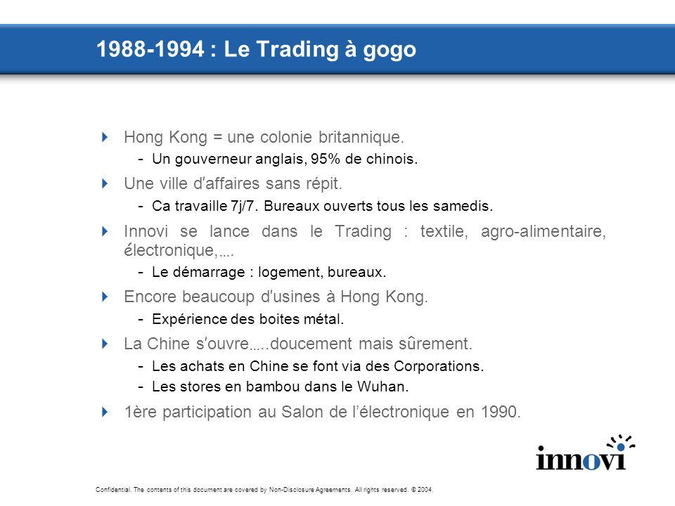 1988-1994 : Le Trading à gogo Hong Kong = une colonie britannique.