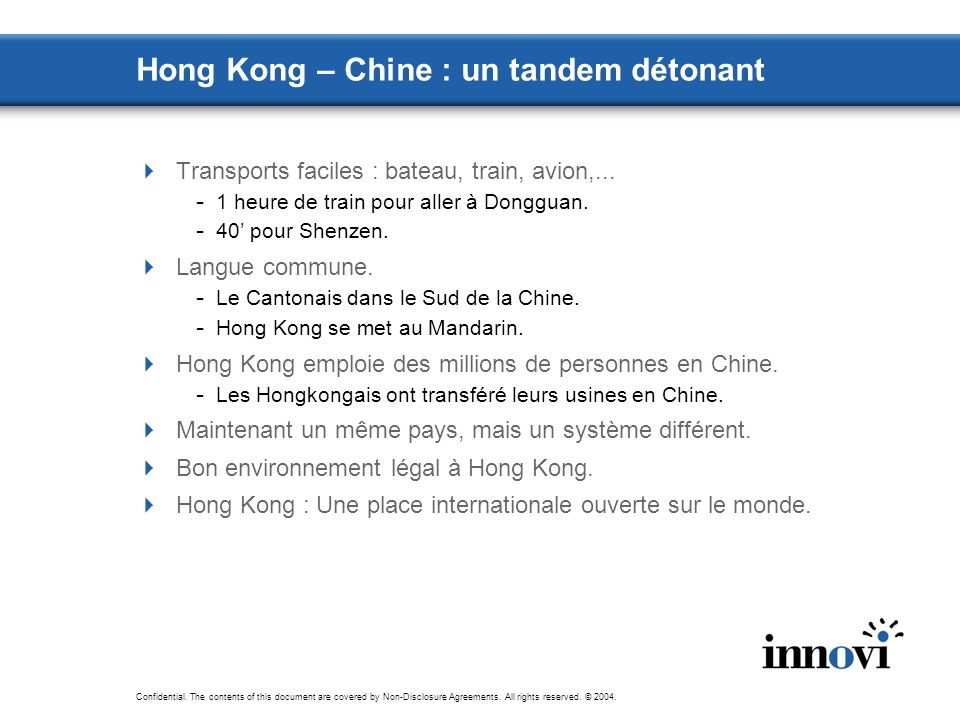 Hong Kong – Chine : un tandem détonant