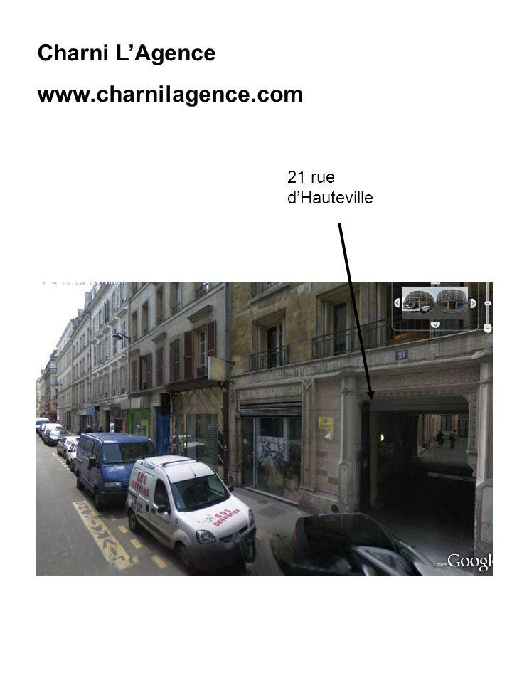 Charni L'Agence www.charnilagence.com 21 rue d'Hauteville