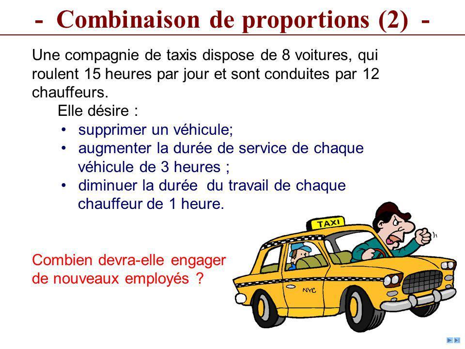 - Combinaison de proportions (2) -