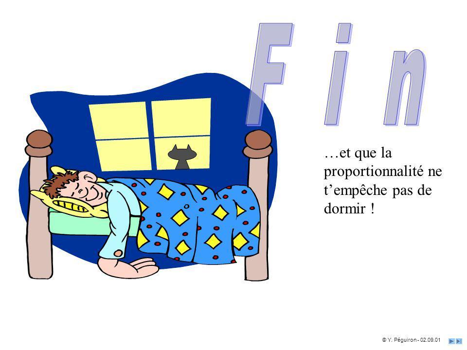 F i n …et que la proportionnalité ne t'empêche pas de dormir !