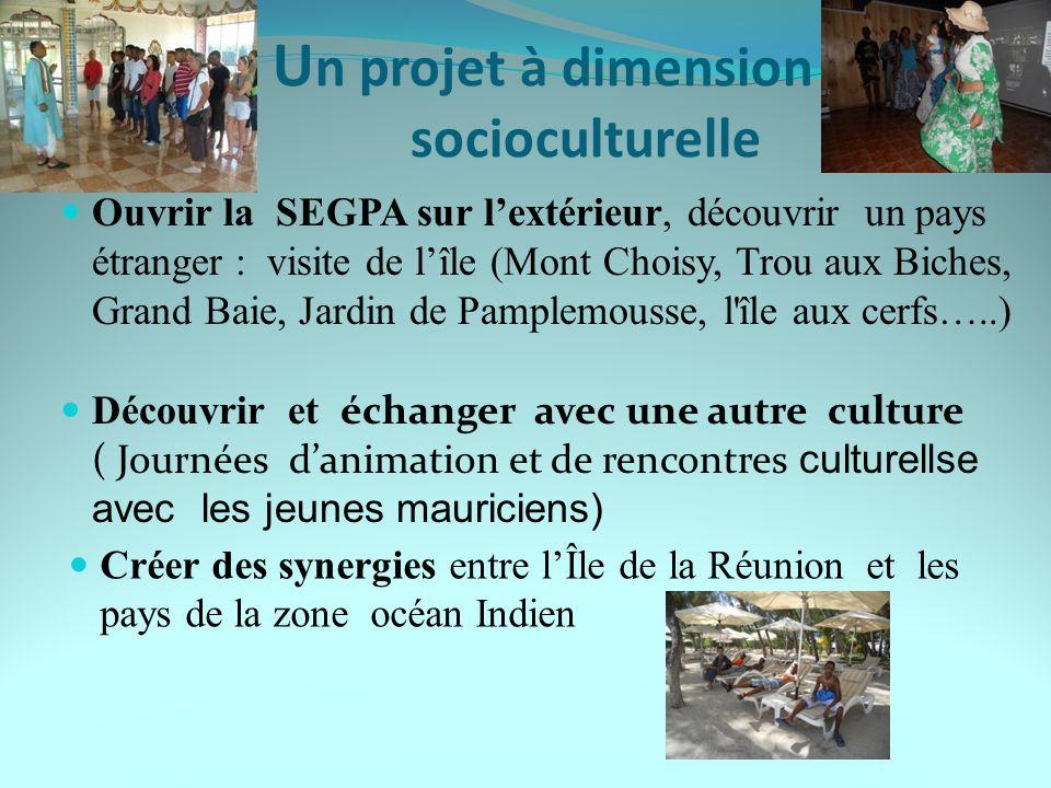 Un projet à dimension socioculturelle