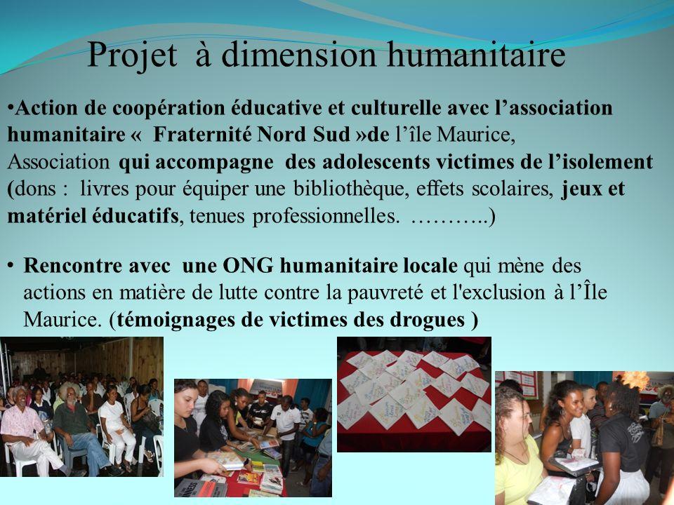 Projet à dimension humanitaire