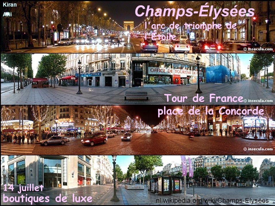 Champs-Élysées Tour de France place de la Concorde boutiques de luxe