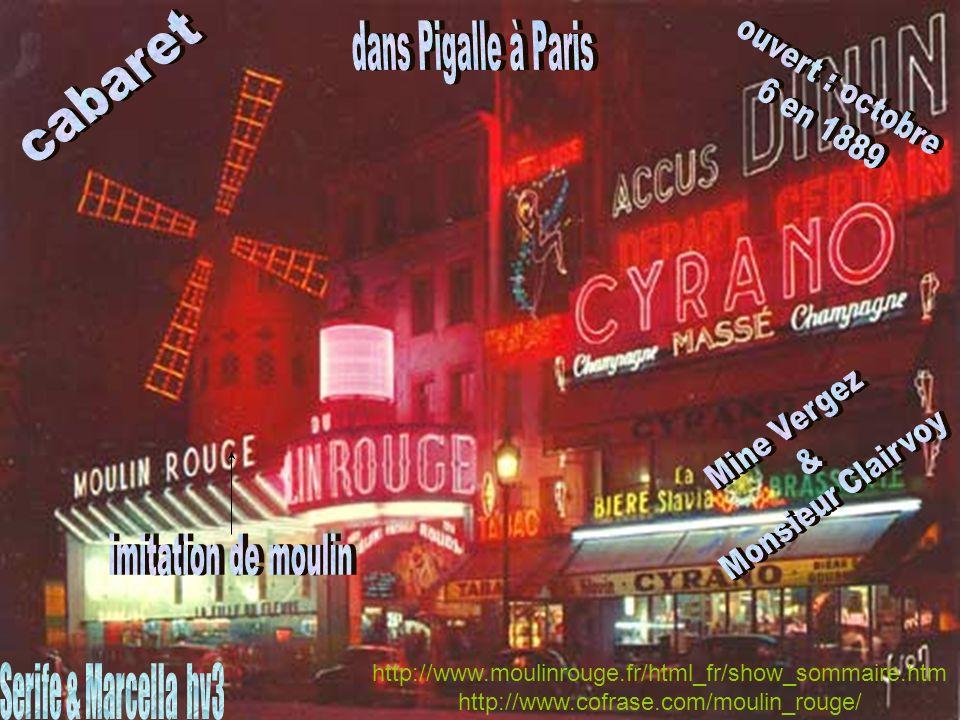 ouvert : octobre dans Pigalle à Paris cabaret 6 en 1889
