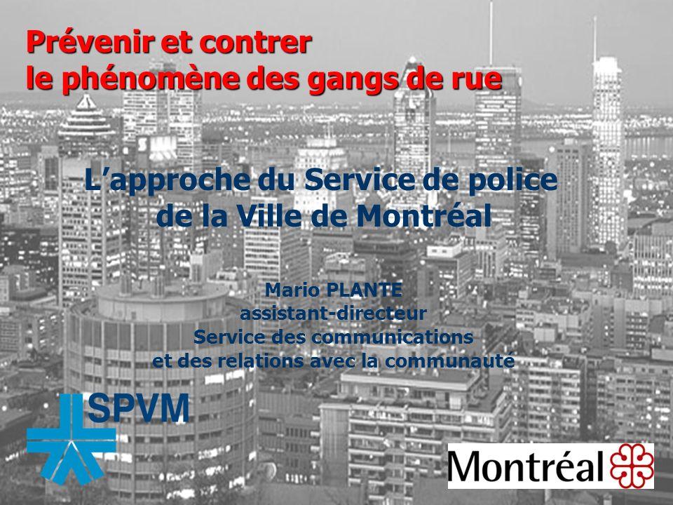 L'approche du Service de police de la Ville de Montréal