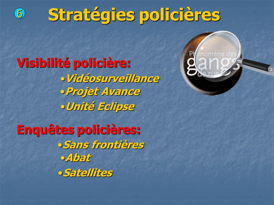 Stratégies policières