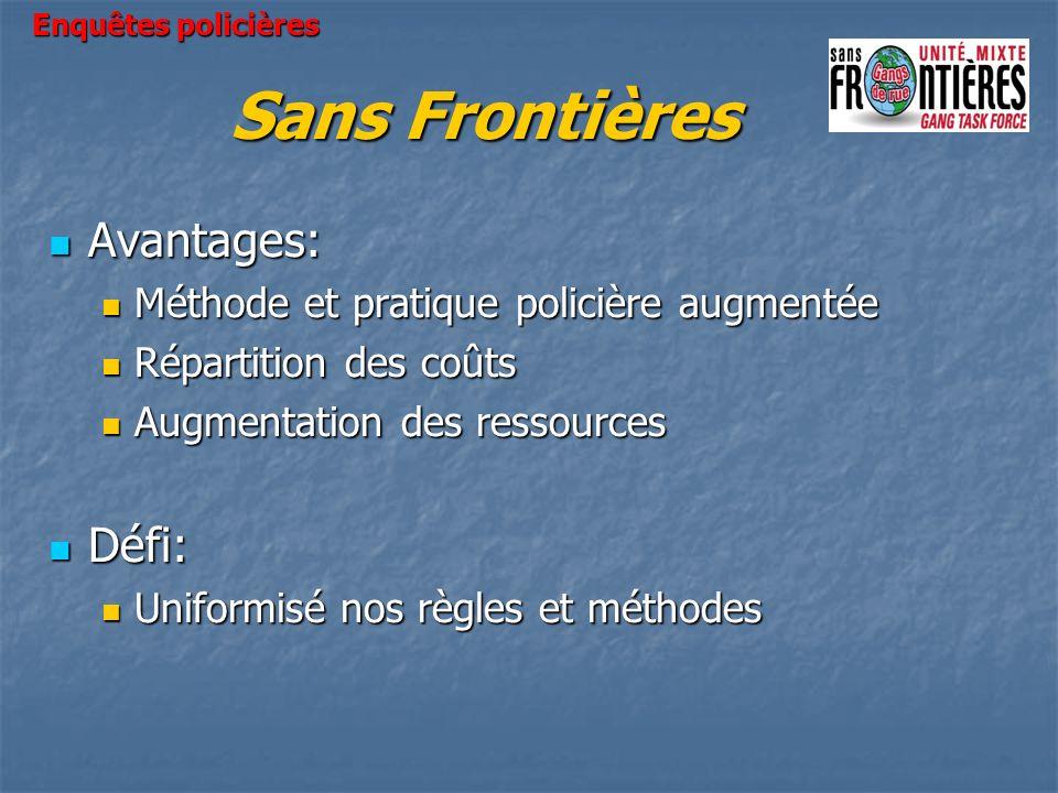 Sans Frontières Avantages: Défi: