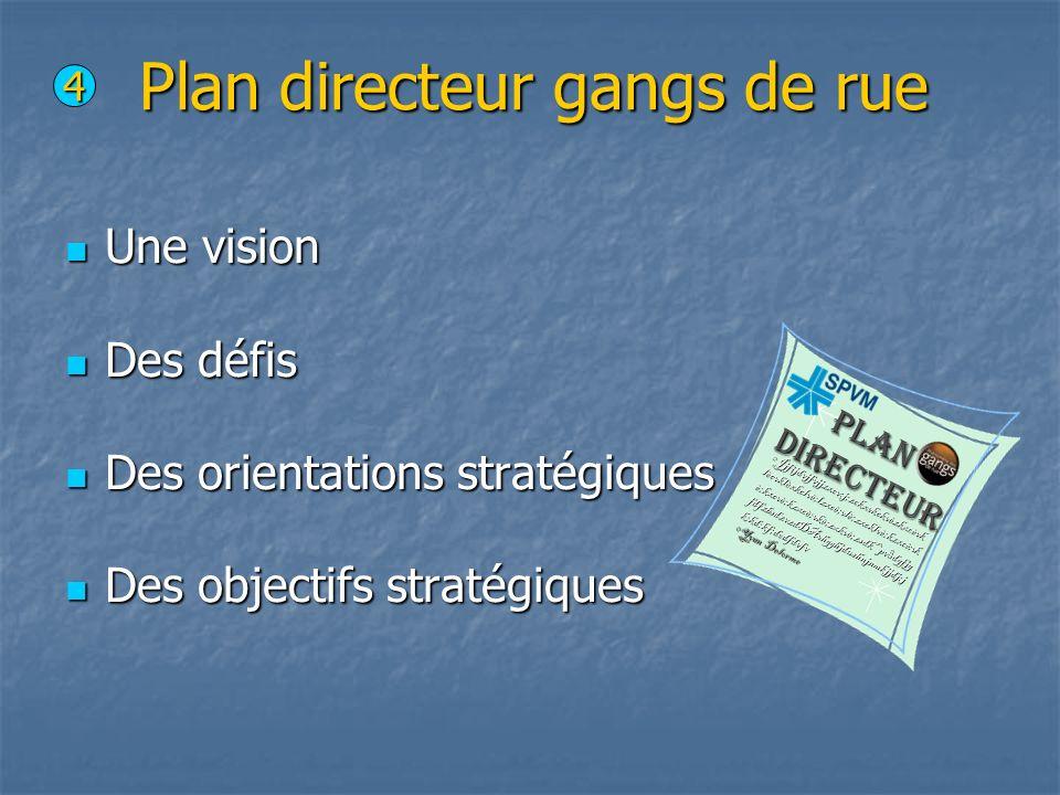Plan directeur gangs de rue