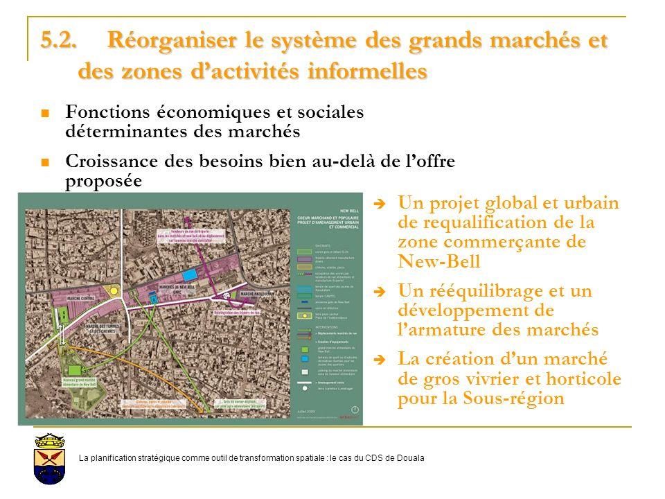 5.2. Réorganiser le système des grands marchés et des zones d'activités informelles