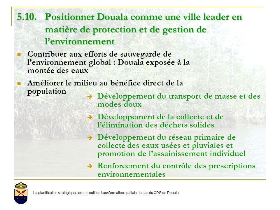5. 10. Positionner Douala comme une ville leader en