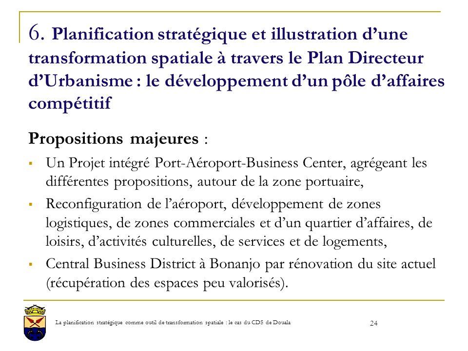 6. Planification stratégique et illustration d'une transformation spatiale à travers le Plan Directeur d'Urbanisme : le développement d'un pôle d'affaires compétitif