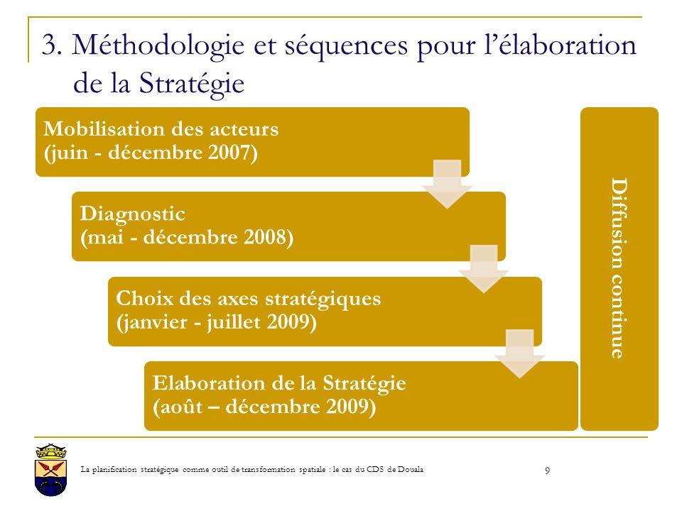 3. Méthodologie et séquences pour l'élaboration de la Stratégie