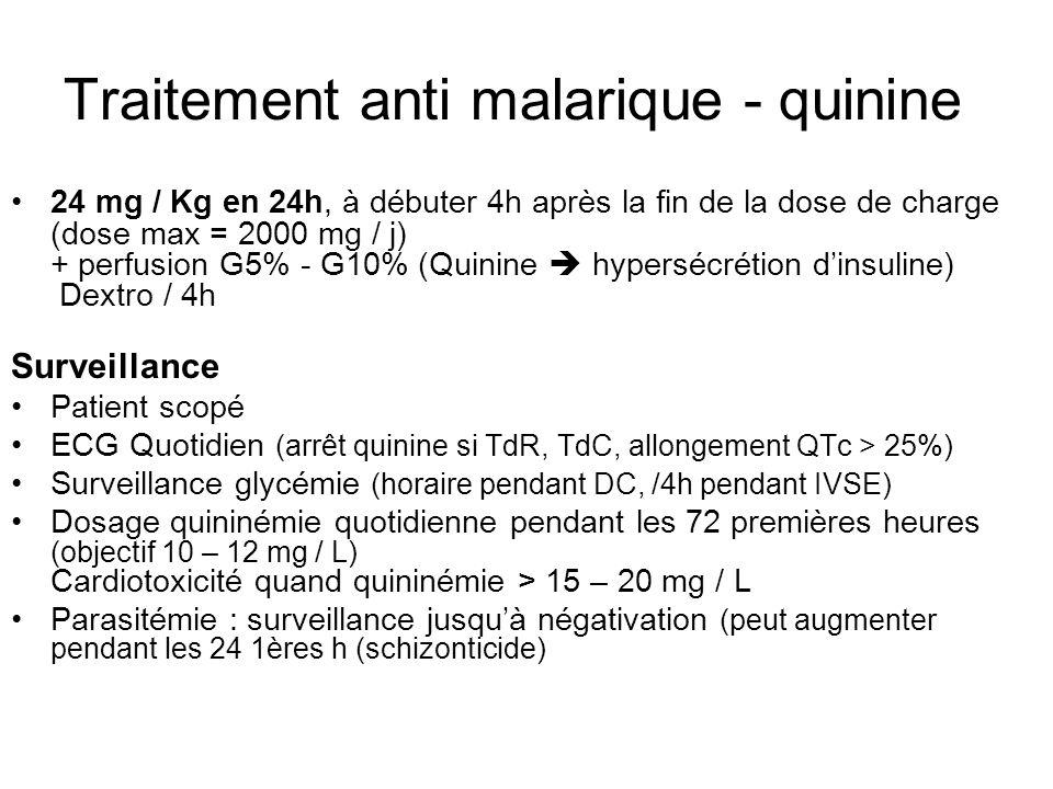 Traitement anti malarique - quinine